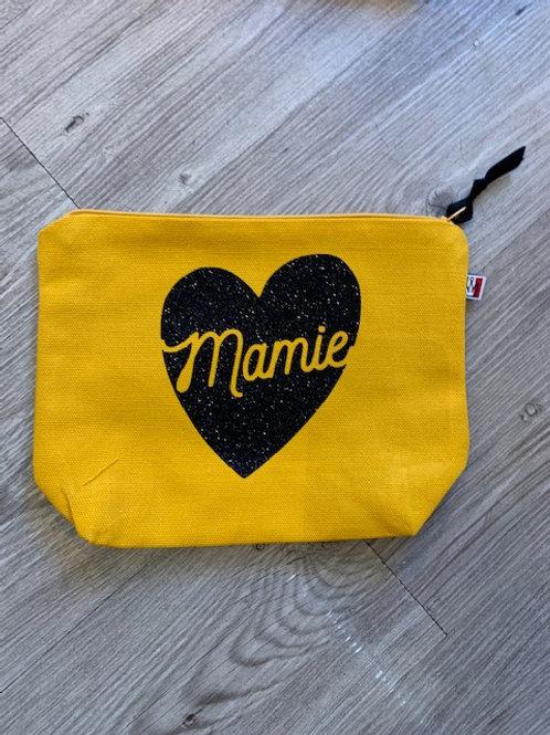 Trousse de toilette: Mamie coeur paillettes