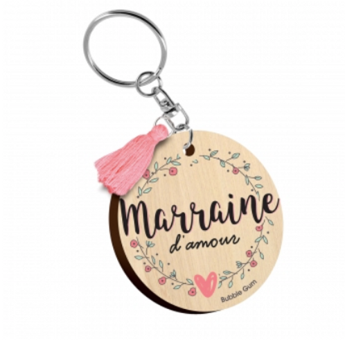 Porte clés: Marraine d'amour