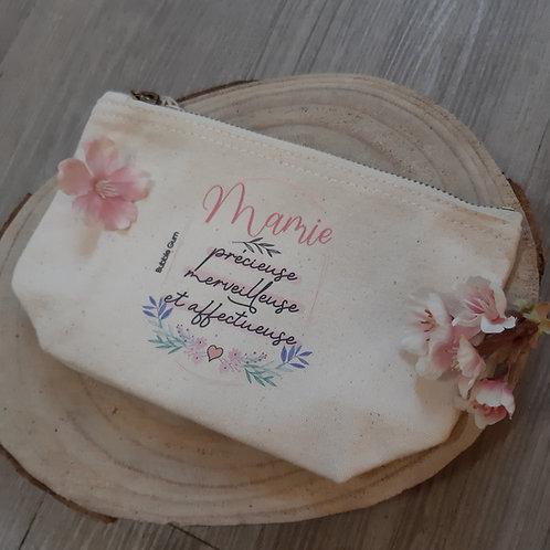 Pochette coton bio: Mamie je t'aime