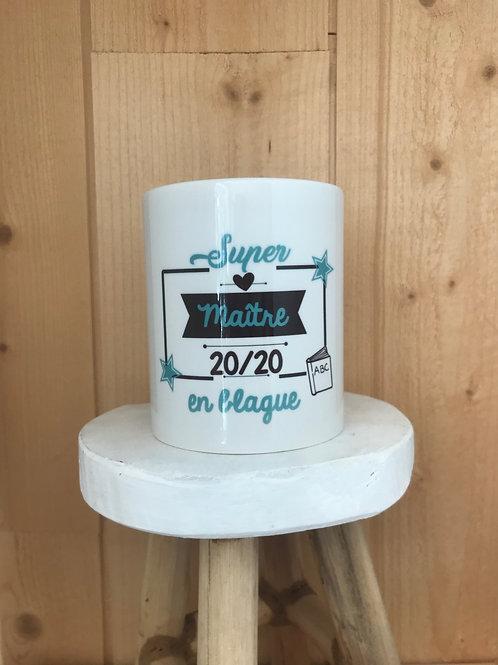 Mug: Maître 20/20 en blague