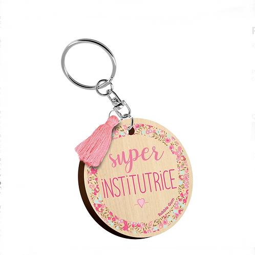 Porte clés: Super institutrice