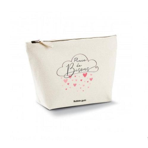 Pochette coton bio: pluie de bisous