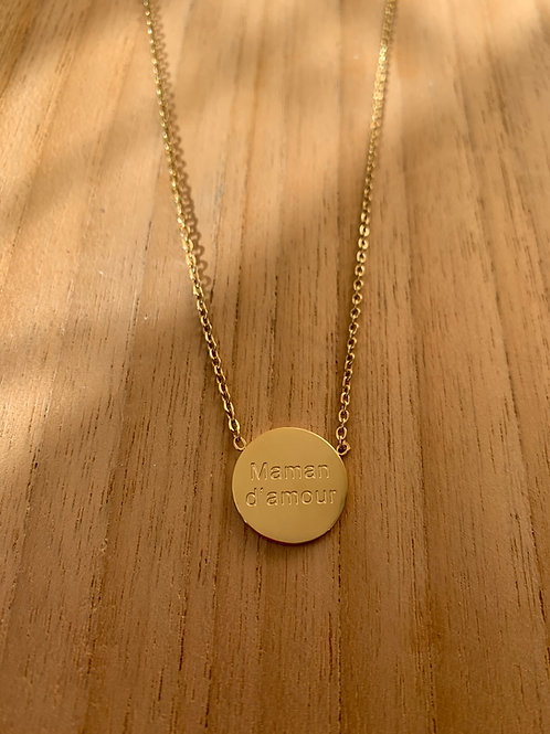 Collier rond: Maman d'amour