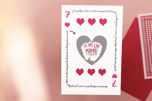 Carte à gratter: Tu vas être Mamie