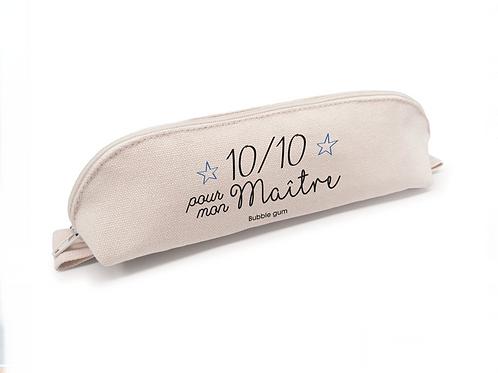 Trousse crayon coton: 10/10 Maître