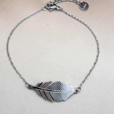 Bracelet chaine: plume