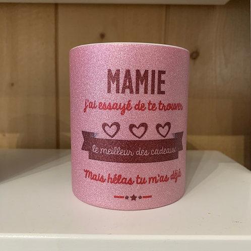 Mug paillettes: Mamie cadeau