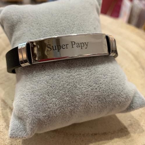 "Bracelet: ""Super Papy"""