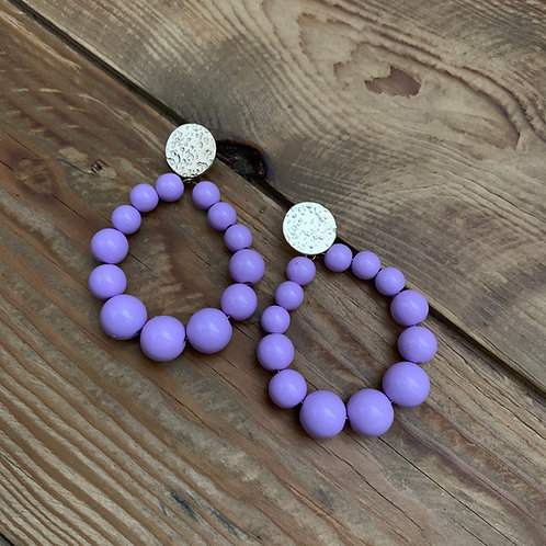 Boucles perles brillantes