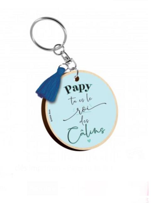 Porte clés: Papy le roi des câlins