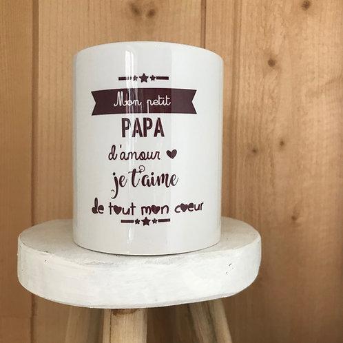 Mug: mon petit Papa d'amour je t'aime de tout mon coeur