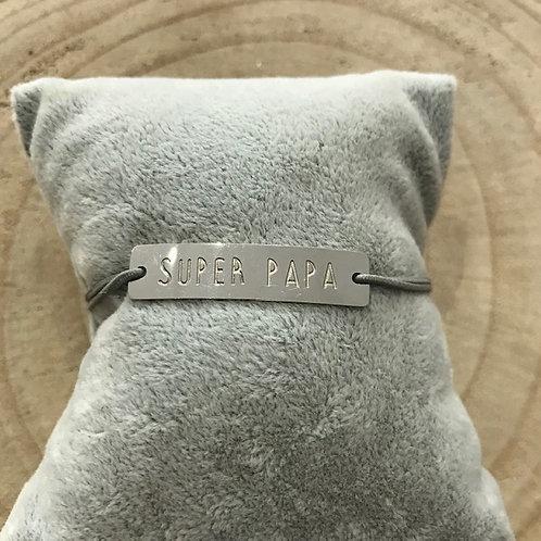 Bracelet élastique en acier: Super Papa