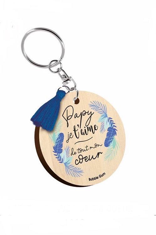 Porte clés: Papy je t'aime de tout mon coeur