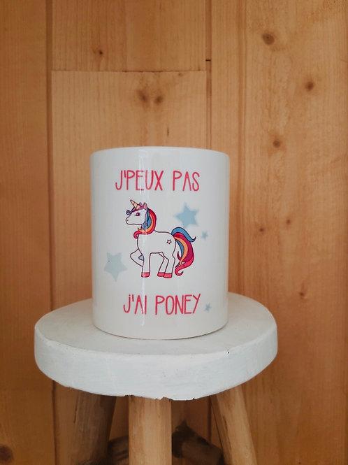 Mug: J'peux pas j'ai poney