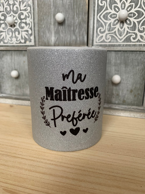 Mug paillettes: Maîtresse préférée