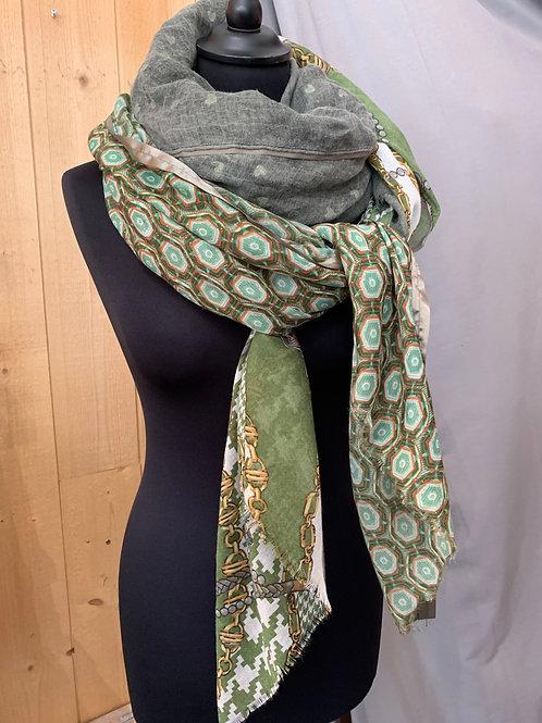 Foulard patchwork carré