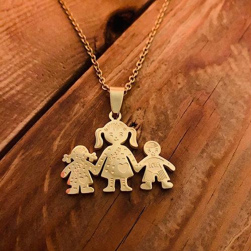 Collier Famille 1 garçon + 1 fille