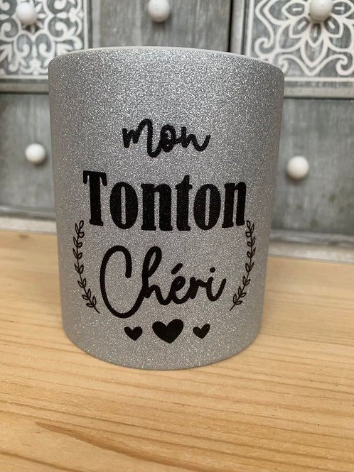 Mug paillettes: Mon Tonton chéri