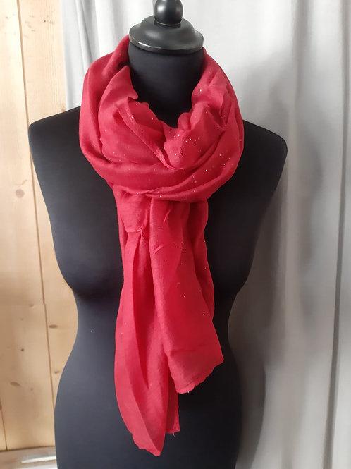 Foulard rectangle rose à paillettes