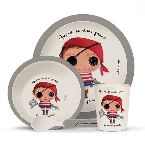 Set vaisselle bambou: Pirate