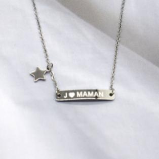 collier: J'aime maman étoile