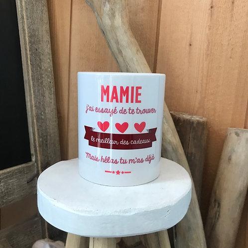 Mug: Mamie ton cadeau c'est moi
