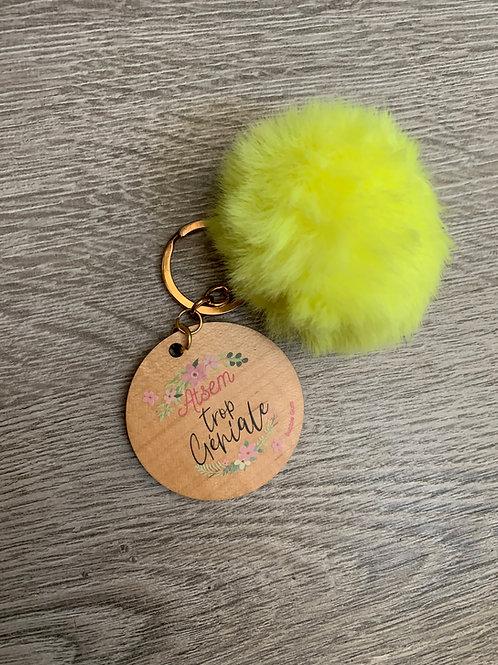 Porte clés pompon: Atsem trop géniale