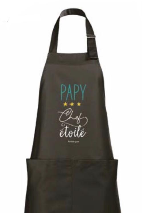 """Tablier de cuisine """"Papy chef étoilé"""""""
