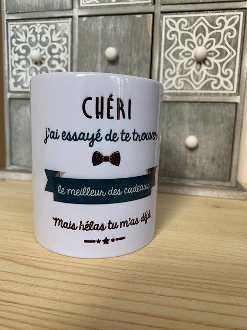 Mug: Chéri, mon cadeau c'est moi