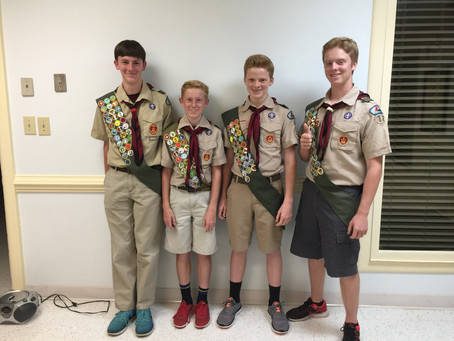 Eagle Scout Board Completed by Cumberland Occoneechee District