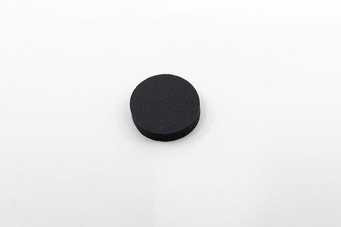 CD Punkt Gummi, schwarz, selbstklebend