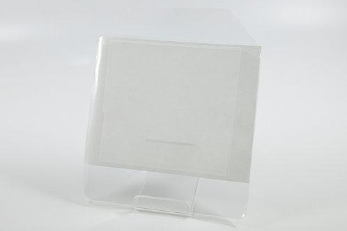 PP Tasche transparent, Rückseite selbstklebend