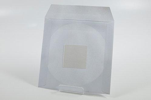 Papiertasche mit Fenster und rückseitigem Sticker