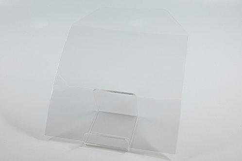 PP Tasche transparent, mit Klappe