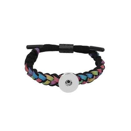 Adjustable Braided Multi Colored Lace Bracelet