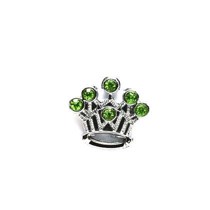 Green Crown Slider Charm