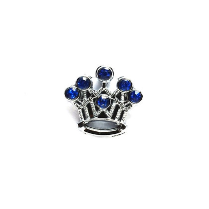 Blue Crown Slider Charm