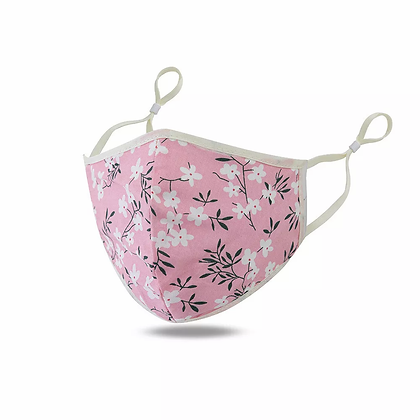 Children's Pink Floral Mask