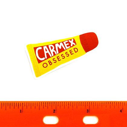 Yellow Carmex Vinyl Sticker