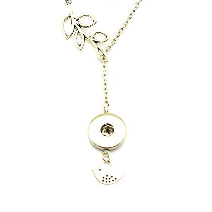Tree Branch / Bird Slider Necklace