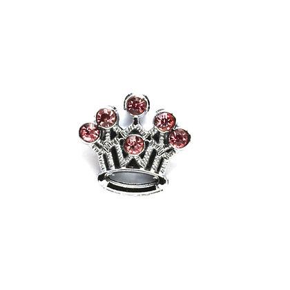Pink Crown Slider Charm