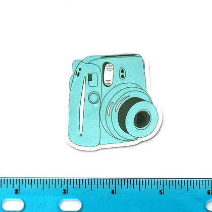 Mint Camera Vinyl Sticker