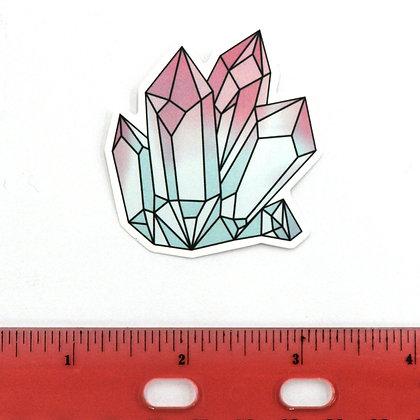 Pink Ice Crystals Vinyl Sticker
