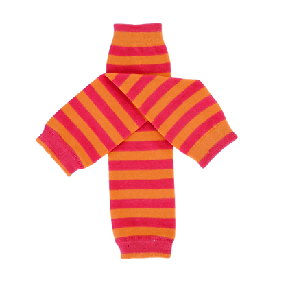 Pink & Orange Striped Leg Warmers