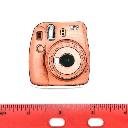 Pink Camera Vinyl Sticker