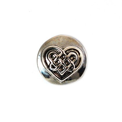 Metal Celtic Knot Heart Snap