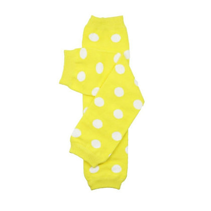 Yellow with White Polka Dot Leg Warmers