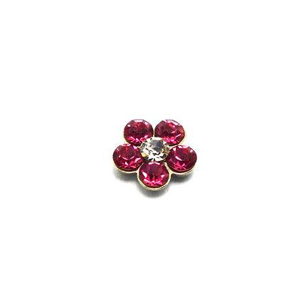 Pink Rhinestone Flower Charm