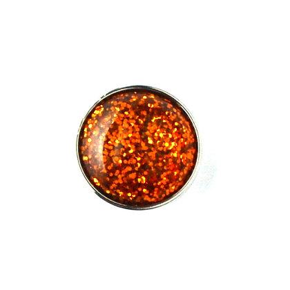 20mm Orange Glitter Snap