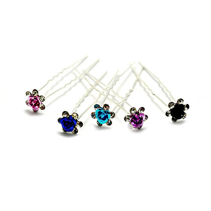 Rosette Hairpin Set of Six